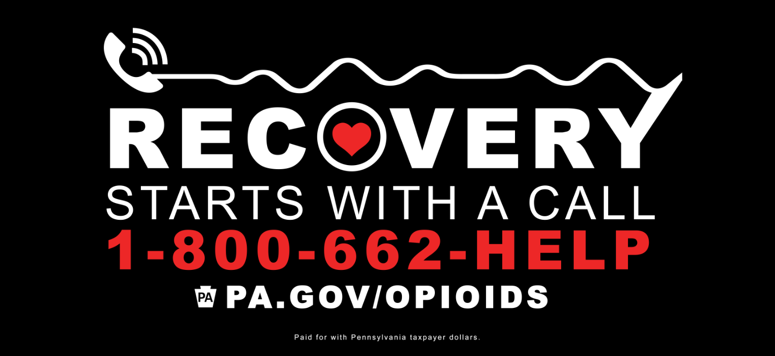 Get Help Now billboard with recovery starts with a call logo