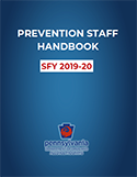 Prevention Staff Handbook cover image